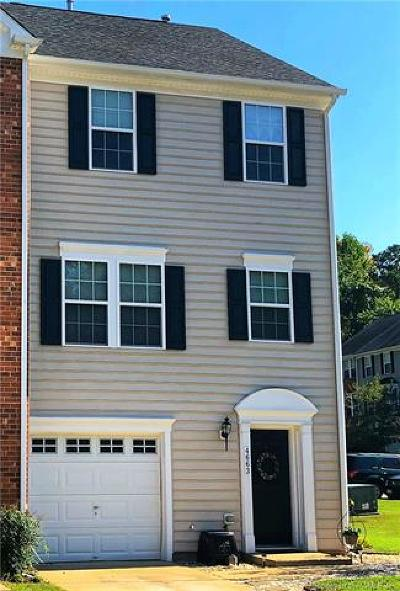 Hampton County, Isle Of Wight County, James City County, New Kent County, Suffolk County, Surry County, Williamsburg County, York County Condo/Townhouse For Sale: 4663 Minutemen Way
