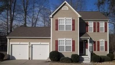 James City County, Williamsburg County, York County Single Family Home For Sale: 4043 Mill Dam Court