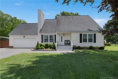 James City County Single Family Home For Sale: 203 Plains View Road