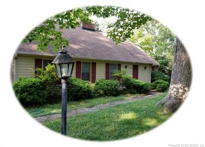 James City County Single Family Home For Sale: 109 Ware Road