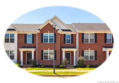 Williamsburg VA Condo/Townhouse For Sale: $234,900