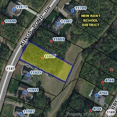 Charles City Co., Isle Of Wight County, James City Co., New Kent County, Newport News County, Suffolk County, Surry County, Williamsburg County, York County Residential Lots & Land For Sale: 11637 Kings Pond Drive