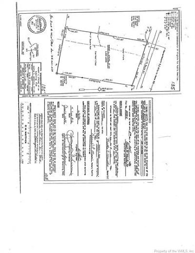 Charles City Co., Isle Of Wight County, James City Co., New Kent County, Newport News County, Suffolk County, Surry County, Williamsburg County, York County Residential Lots & Land For Sale: Lot Burwells Bay Road