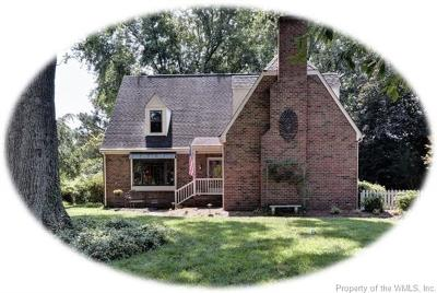 Williamsburg VA Single Family Home For Sale: $315,000