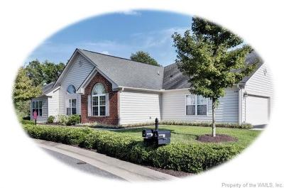 The Settlement At Powhatan Creek, Villas At Five Forks, Colonial Heritage Condo/Townhouse For Sale: 3109 Pristine View
