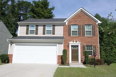 James City County, Williamsburg County, York County Single Family Home For Sale: 109 Emma Rose Court
