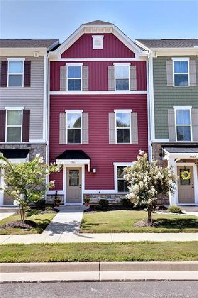 Charles City County, Isle Of Wight County, James City County, Surry County, York County Condo/Townhouse For Sale: 7514 Luminary Drive