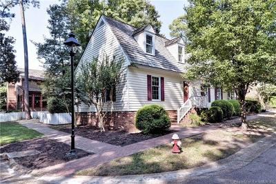 Kingsmill Single Family Home For Sale: 123 Edward Wakefield