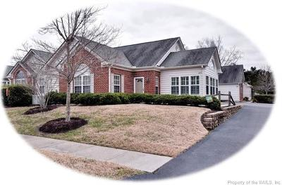 Colonial Heritage, The Settlement At Powhatan Creek, Villas At Five Forks Condo/Townhouse For Sale: 4327 Creek View East