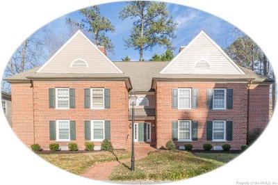 Williamsburg VA Condo/Townhouse For Sale: $229,000