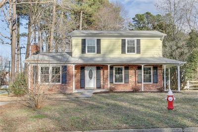 Williamsburg VA Single Family Home For Sale: $249,900