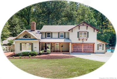 James City County, Williamsburg County, York County Single Family Home For Sale: 8740 Merry Oaks Lane