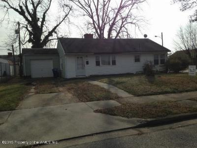 Newport News VA Single Family Home For Sale: $55,900