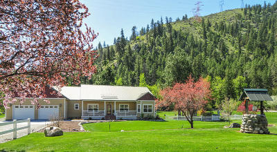 Entiat Single Family Home Active - Contingent: 7915 Entiat River Rd