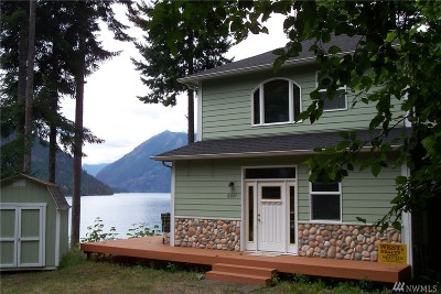 Mason County Single Family Home For Sale: 5907 N Lake Cushman Rd.