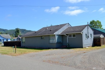 Forks WA Single Family Home For Sale: $72,000