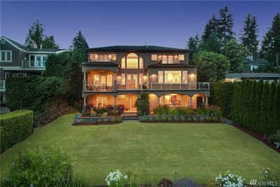 Bellevue WA Single Family Home For Sale: $3,898,000