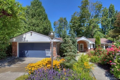 Mercer Island Single Family Home For Sale: 3910 91st Ave SE