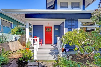 Seattle Single Family Home For Sale: 614 20th Ave