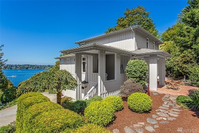 Mercer Island Single Family Home For Sale: 7431 W Mercer Way