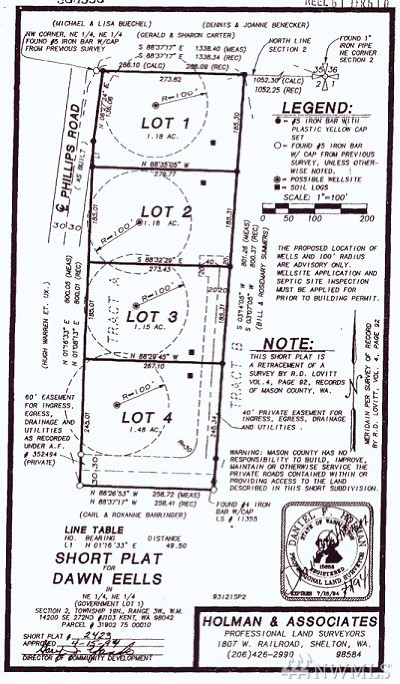 Shelton Residential Lots & Land For Sale: Phillips Rd