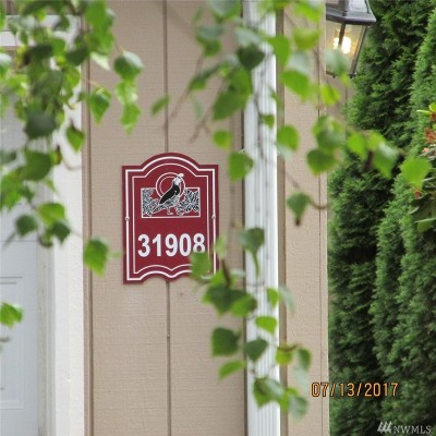 Federal Way Condo/Townhouse For Sale: 31908 31st Place SW #2