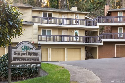 Issaquah Condo/Townhouse For Sale: 515 Newport Wy NW #A-6