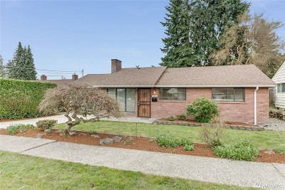 Seattle Single Family Home For Sale: 7627 S 112th St