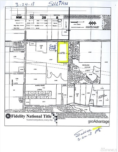 Sultan Residential Lots & Land For Sale: 32626 132nd St SE
