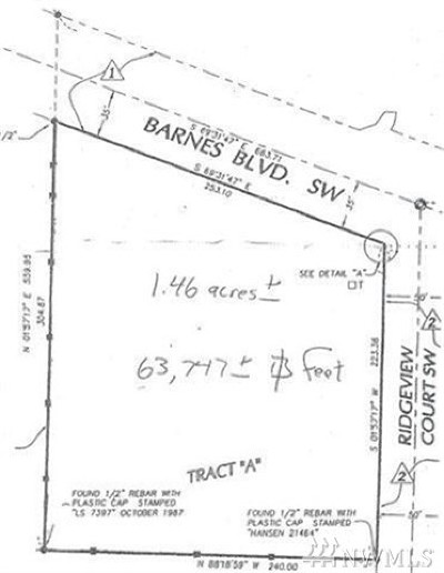 Residential Lots & Land For Sale: Barnes Blvd SW