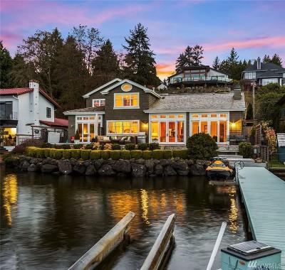 Lake Forest Park Single Family Home For Sale: 15550 Beach Dr NE