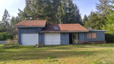 Shelton WA Single Family Home For Sale: $185,000