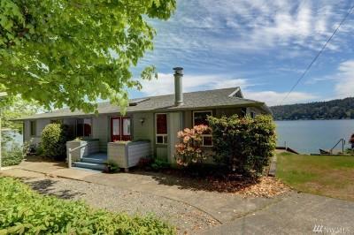 Mason County Single Family Home Pending Inspection: 11651 NE North Shore Rd