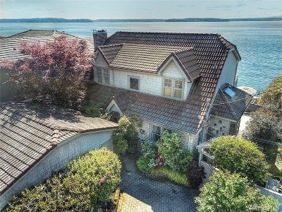 Seattle Single Family Home For Sale: 4801 Beach Dr SW