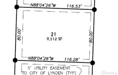 Lynden Residential Lots & Land Pending: 21 Lot Pine St.
