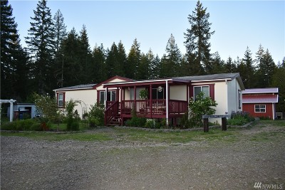 Mason County Single Family Home For Sale: 1400 W Satsop Maple Glen