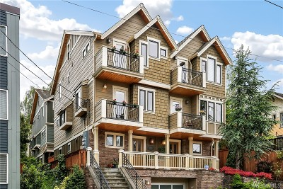 Seattle Single Family Home For Sale: 209 Boston St #B