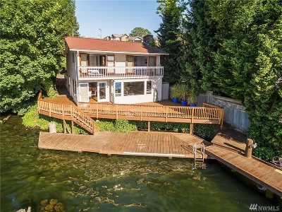 Renton Single Family Home For Sale: 3901 Lake Washington Blvd N