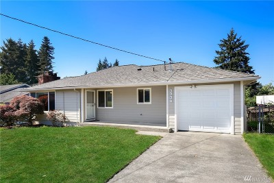 SeaTac Single Family Home For Sale: 3734 S 162nd St