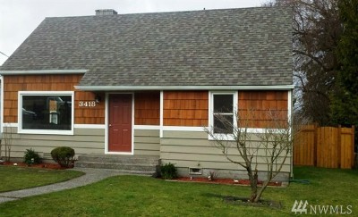 Tukwila Single Family Home For Sale: 3418 S 140th St