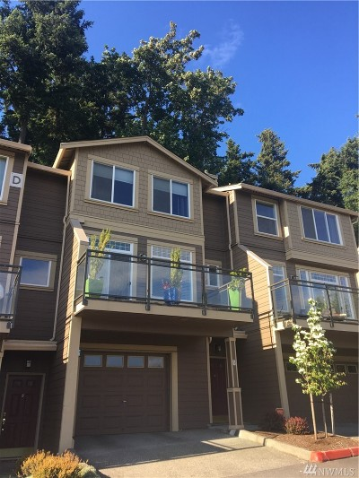 Issaquah Condo/Townhouse For Sale: 23300 SE Black Nugget Rd #D3