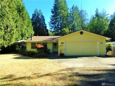 Shelton WA Single Family Home For Sale: $315,000