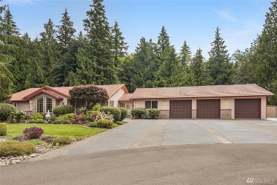 Stanwood Single Family Home For Sale: 3632 167th St NW
