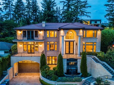 Bellevue WA Single Family Home For Sale: $5,900,000