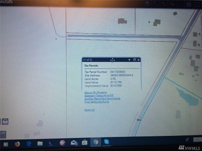Eatonville Residential Lots & Land For Sale: 9906 381st St E