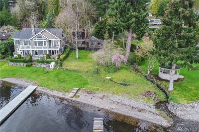 Bellevue Single Family Home For Sale: 2004 W Lake Sammamish Pkwy SE