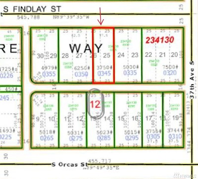 Seattle Residential Lots & Land For Sale: 3631 S Findlay St