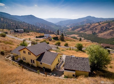 Chelan County Single Family Home For Sale: 4975 Whispering Ridge Dr