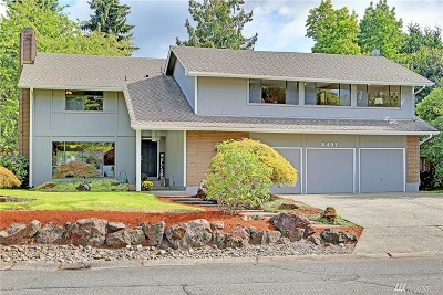 Mercer Island Single Family Home For Sale: 8491 SE 72nd St