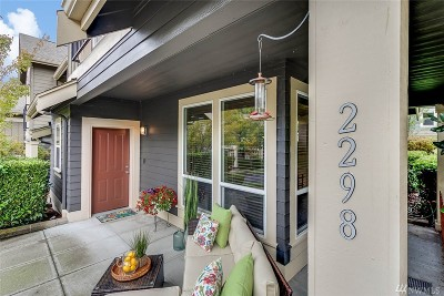 Issaquah Condo/Townhouse For Sale: 2298 NE Marion Lane